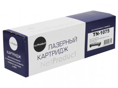 Тонер-картридж NetProduct (N-TN-1075) для Brother HL-1010R/ 1112R/ DCP-1510R/ MFC-1810R, 1K
