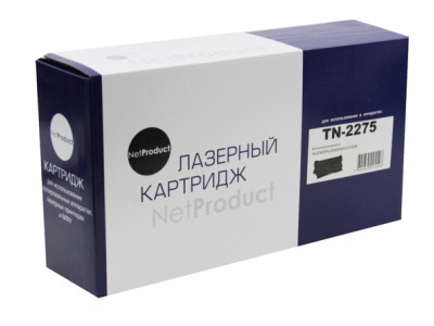 Тонер-картридж NetProduct (N-TN-2275) для Brother HL-2240R/ 2240DR/ 2250DNR/ DCP-7060DR, 2,6K