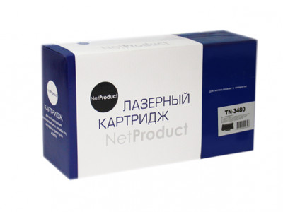 Тонер-картридж NetProduct (N-TN-3480) для Brother HL-L5000D/ 5100DN/ 5200DW, 8K